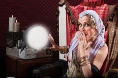 Startled Fortune Teller Royalty Free Stock Photo