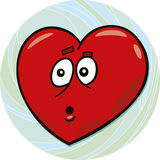 Startled heart Royalty Free Stock Photo