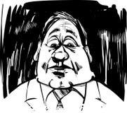 Startled man caricature illustration Stock Photo