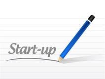 Startmitteilungszeichen-Konzeptillustration Stockfotografie