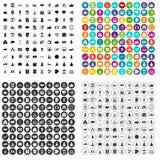 100 startpictogrammen geplaatst vectorvariant Royalty-vrije Stock Foto's