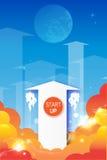 Startpijlsymbool stock illustratie