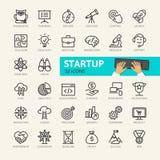 Startproject en ontwikkelingselementen royalty-vrije illustratie