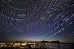 Startrail Obrazy Royalty Free