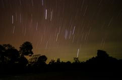 Startrail photography Royalty Free Stock Image