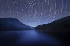 Startrails Stockfoto