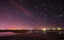 Startrails Photographie stock