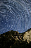 Startrails immagine stock
