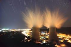 Startrails all'acciaio del capitale di Pechino Fotografia Stock Libera da Diritti