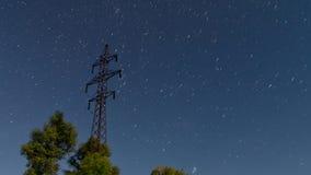 Startrails elektryczna linia Kometa tryb zdjęcie wideo