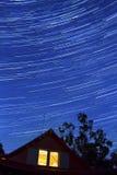 Startrails en la noche Fotografía de archivo