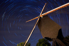 Startrails Lindemolen Diest Stock Photos