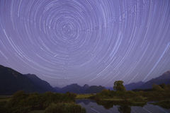 Startrails and meteor fireball from Pitt River Stock Photos