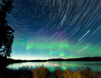 Free Startrails Northern Lights Display Lake Laberge Royalty Free Stock Photos - 39416458
