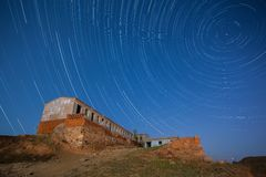 Startrails: An Old Building Royalty Free Stock Images