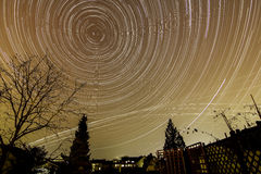 Startrails photography Stock Photography