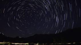 Startrails. Night star timelapse astronomy stock footage