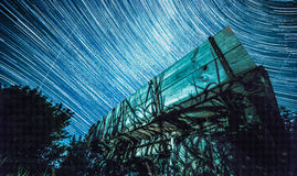 StarTrails Ukraine Village Stock Photography