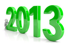 Starts a new year 2013. 3d image Royalty Free Stock Photo
