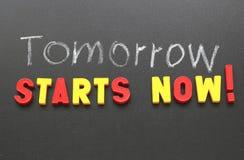 Starts now! Stock Image