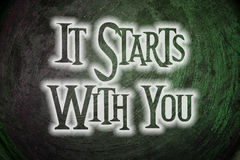 It Starts With You Concept Stock Images