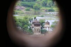 Startue di Rajputs in Badnor Ragiastan India fotografia stock