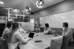 Startup бизнесмены команды на встрече Стоковые Фото