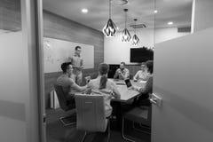 Startup бизнесмены команды на встрече Стоковое Изображение RF