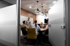 Startup бизнесмены команды на встрече Стоковое Изображение