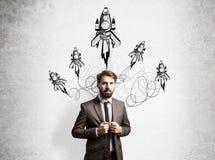Startup бизнесмен концепции Стоковое фото RF