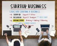 Startup бизнес-план шагает графическая концепция стоковые изображения rf