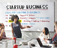 Startup бизнес-план шагает графическая концепция стоковая фотография
