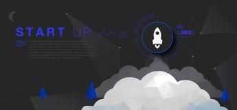 Startup знамя Стоковые Изображения RF