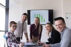 Startup команда дела на встрече на современном офисе Стоковое Изображение