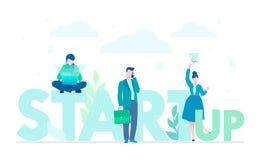 Startup компания - иллюстрация плоского стиля дизайна красочная иллюстрация штока