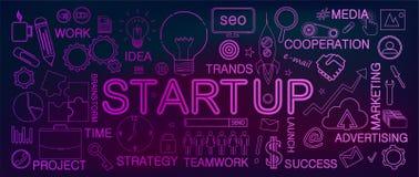 Startup концепция дела иллюстрация вектора