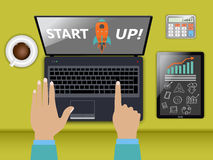 Startup концепция Стоковые Изображения