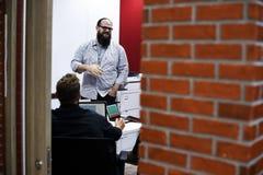 Startup метод мозгового штурма команды дела на мастерской встречи Стоковые Фото