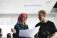 Startup метод мозгового штурма команды дела на мастерской встречи Стоковое Изображение RF