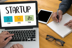 Startup новое решение начала для целей начинает ваша жизнь жизни Стоковое Изображение RF