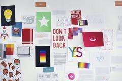 Startup доска дела показывая полет плана стратегии задачи Стоковая Фотография RF