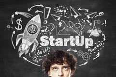 Startup портрет бизнесмена концепции Стоковое Фото
