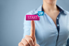 Startup принципиальная схема дела Стоковые Фотографии RF