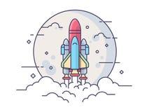 Startup ракета космоса Стоковые Фотографии RF