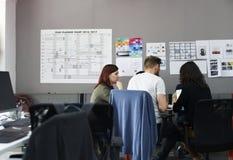 Startup affär Team Brainstorming på möteseminarium Royaltyfria Bilder