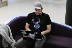 Startup affärsfolk som arbetar på bärbara datorn Royaltyfri Foto
