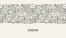 Startup Banner Concept. Vector Illustration of Line Web Design Royalty Free Stock Photo