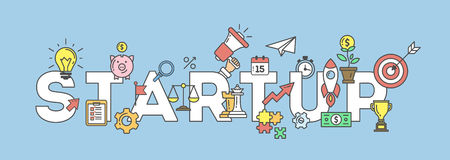 Startup banner illustration. Royalty Free Stock Photography