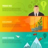 Startup Banner Set Stock Images