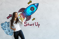 Startup begrepp royaltyfri fotografi